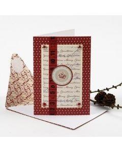Julkort med dekorationer från Vivi Gade