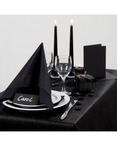 Inspiration til fest med svart dukning