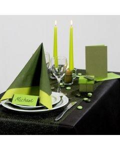 Inspiration till fest med grön dukning