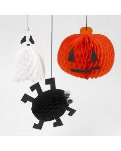 Dekorationer av dragspelspapper till halloween