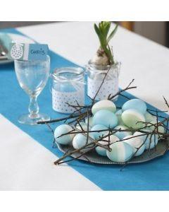 Äkta ägg med infärgning av sidenfärg