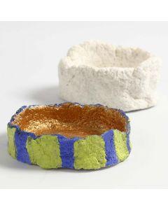 Liten skål formad av pulp