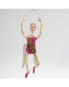 Ballerina av bonzaitråd i guld med pulp
