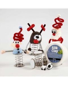 Julfigur av Silk Clay på fjäder