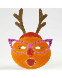 Målad och dekorerad mask till jul