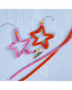 Stjärna av färgad chenille