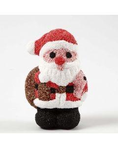 Jultomte av frigolit klädd med Foam Clay