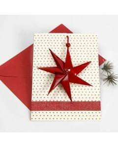 Julkort med 7-taggig stjärna