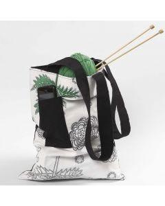 Väska med axelrem och ficka