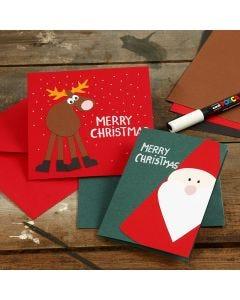 Kort med julmotiv av kartong