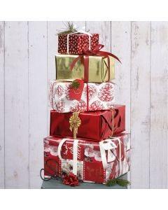 Presentinslagning till jul med papper och dekorationer från Vivi Gade Design