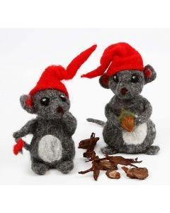 Nålfiltade julmöss