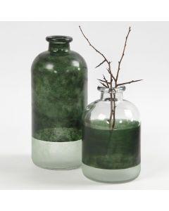 Apoteksflaskor dekorerade med Glass Color