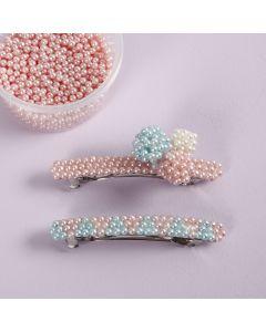 Hårspänne dekorerad med Pearl Clay