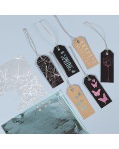 Manillamärken dekorerade med design limark och dekorationfolie