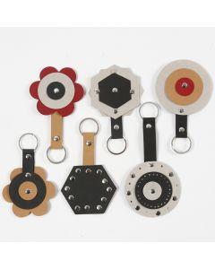 Nyckelberlock av läderpapper