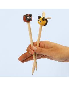 Silk Clay insekter som dekoration på pennor