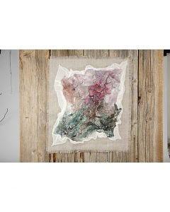 Konst med handgjort silke