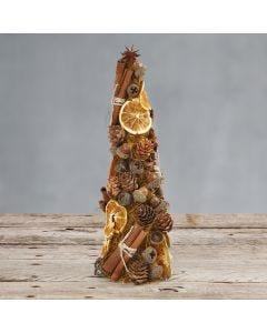 Kägla dekorerad med sisal och naturmaterial