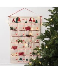 Klassisk paketkalender av en hängande organiser
