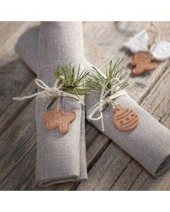 Julfigurer av självhärdande lera till dekoration och upphängning