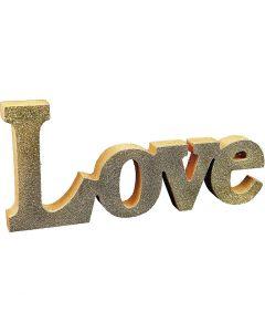 Målade bokstäver /kärleksord med glitter