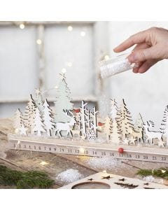 Julkalender i trä