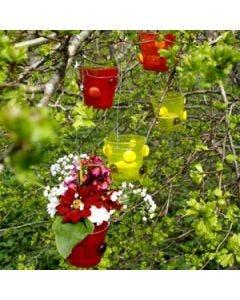 Ljusglas i trädgården