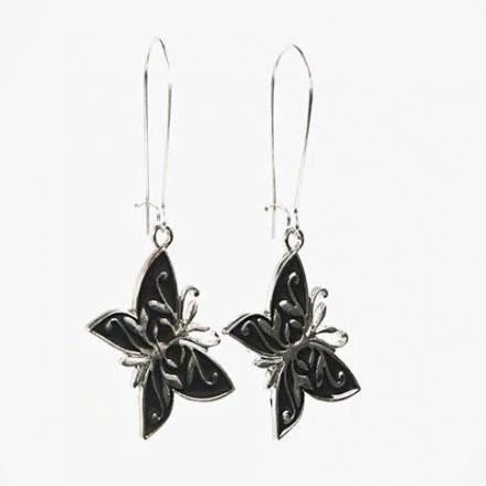 Örhängen med fjärilar