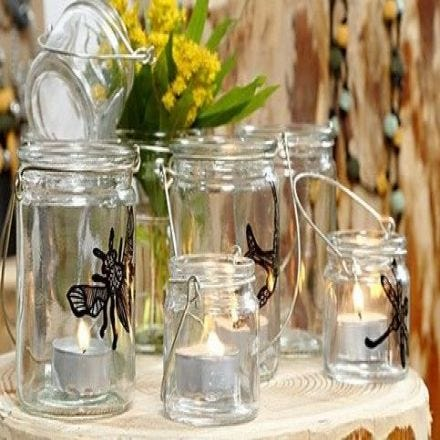 Lanternor med insekter