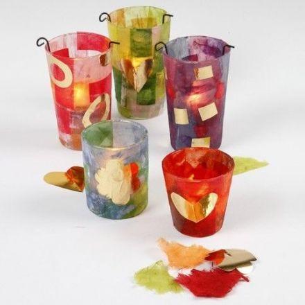 Decoupage på glas