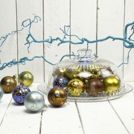 Julkulor med guld