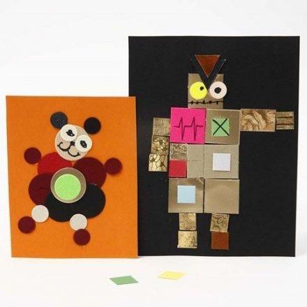 Tavlor av pappmosaik på kartong från Color Bar