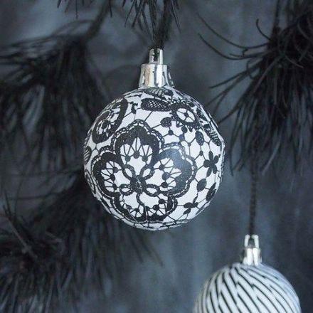 Julkulor med Paris decoupagepapper