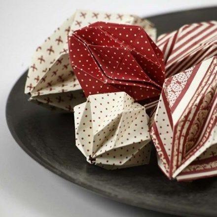 Origamivikta kulor i Copenhagen designpapper