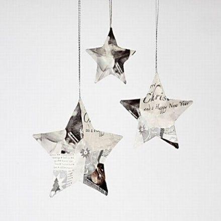 Stjärnor med servettdecoupage