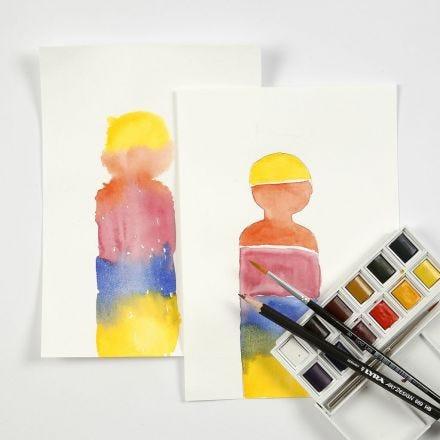 Akvarell blockfärger i praktiken