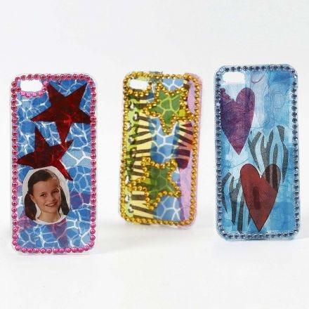 Decoupage och bling bling på iPhonefodral