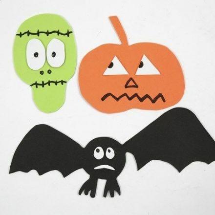 Magnetiska motiv av mossgummi till Halloween