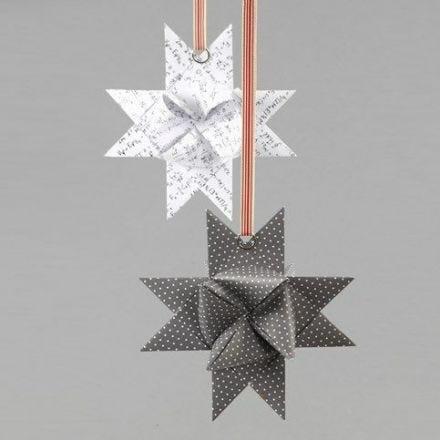 Splitring på flätad stjärna av papper från Vivi Gade Design