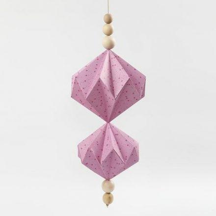 Dekorera med pappersdiamanter av papper från Vivi Gade Design