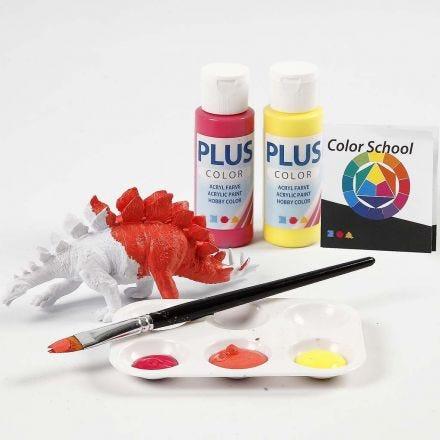 Dinosaurie målad med primärfärger