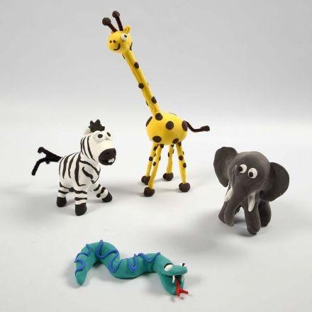 Vilda djur med  Silk Clay