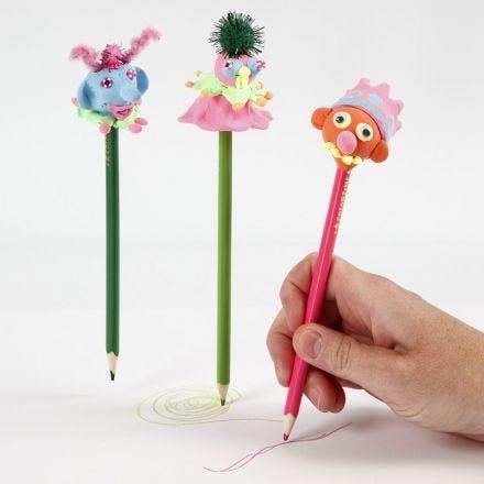 Blyertspenna med huvud av Silk Clay
