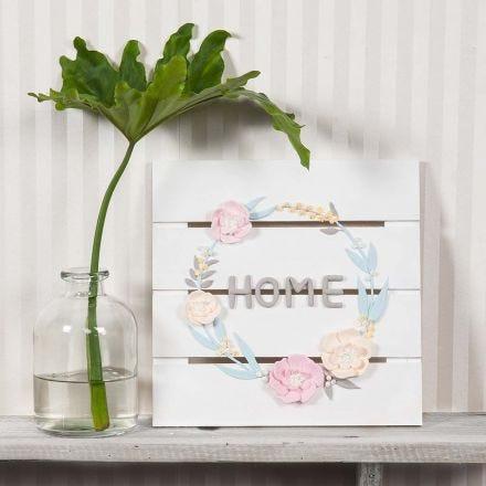 Blomsterkrans av Silk Clay och Silk Clay Creamy