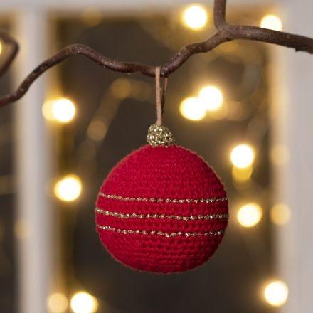 Virkad julkula i bomullsgarn