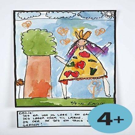 Akvarell på barnnivå
