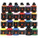 Pigment Art School, mixade färger, 24x500 ml/ 1 förp.