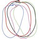 Gummiband med lås, L: 46 cm, tjocklek 1,65 mm, mixade färger, 5 mix./ 1 förp.