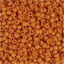 Rocaipärlor, Dia. 3 mm, stl. 8/0 , Hålstl. 0,6-1,0 mm, orange, 25 g/ 1 förp.
